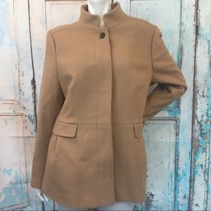 BANANA REPUBLIC Tan Wool Blend Pea Coat